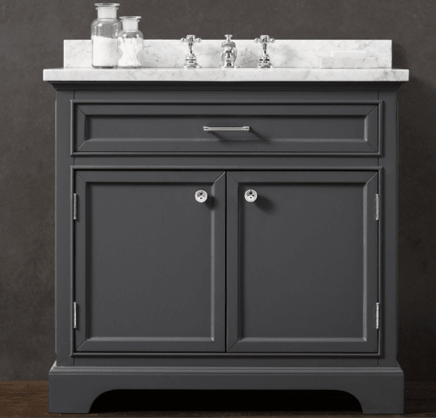 Gray vanity luxury bathroom products for Bathroom ideas grey vanity