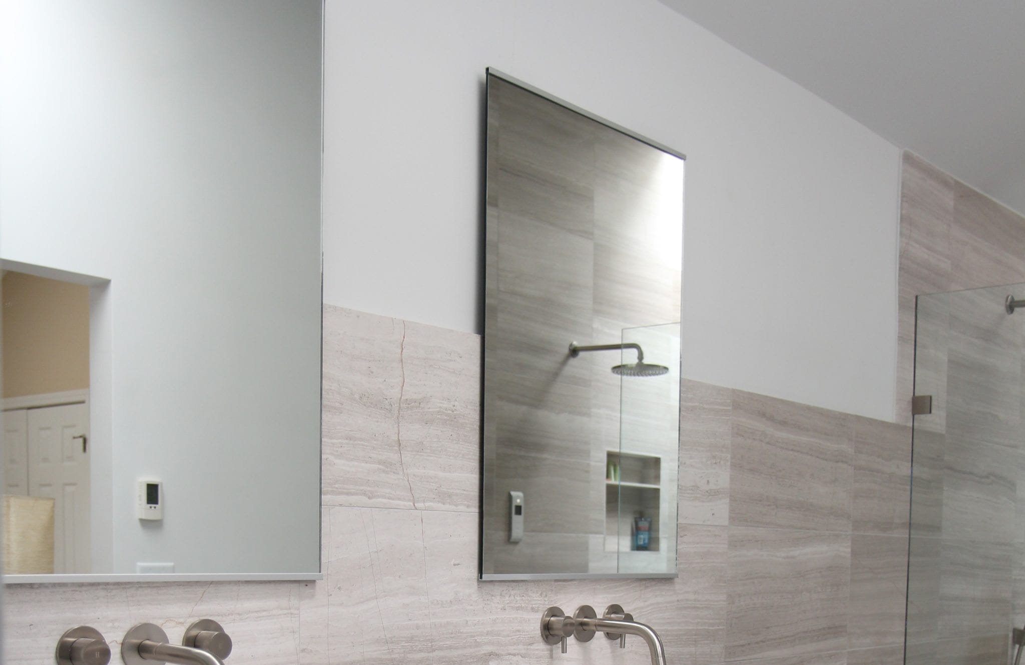Partially Framed Mirrors Luxury Bathroom Products