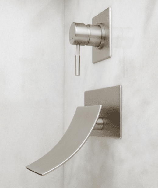 Wall Mount Bathroom Faucet Installation : Update a bath with the sleek lines of the Reston Wall-Mount Tub Faucet ...