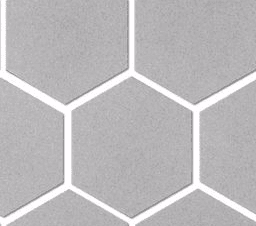 Spokane Light Grey Matte Hex Porcelain Mosaic Tile 2x2