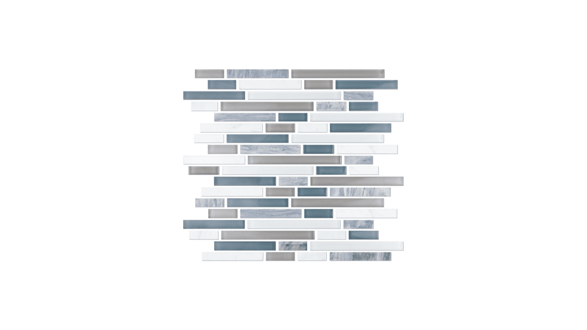 Iceland Stria Glass And Stone Mosaic Tile 12 X 12 In